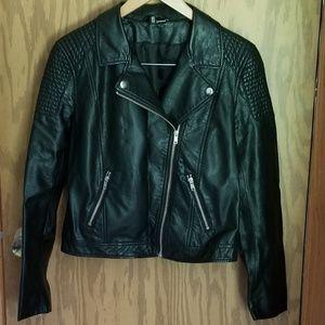 Faux leather jackrt